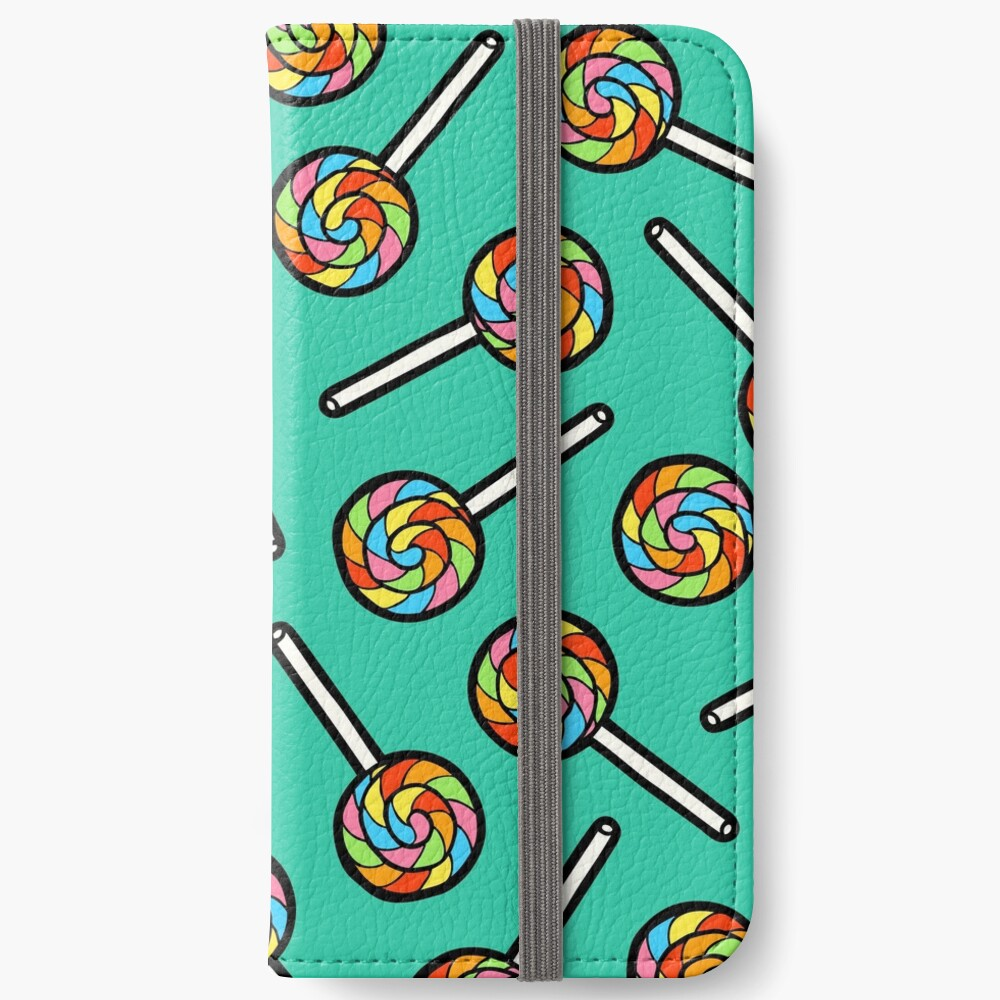 Rainbow Lollipop Pattern iPhone Wallet