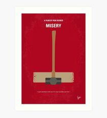No814 My Misery minimal movie poster Art Print