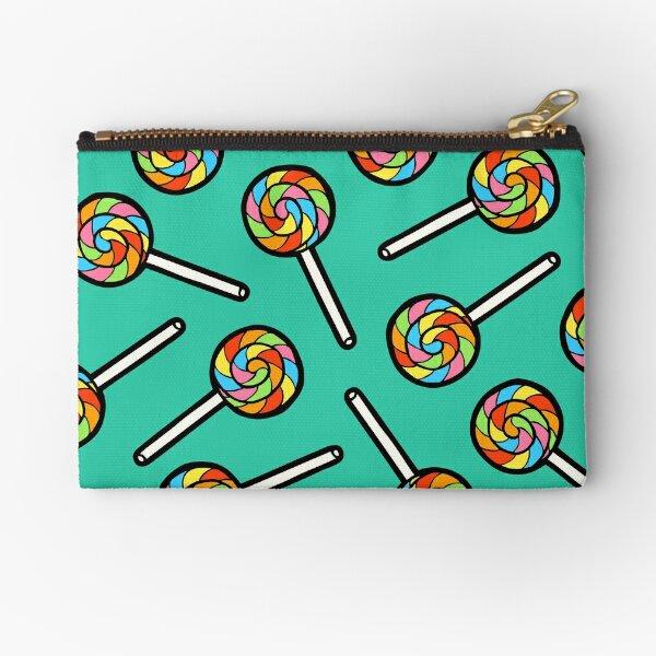 Rainbow Lollipop Pattern Zipper Pouch