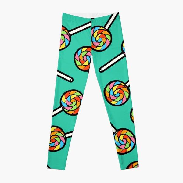 Rainbow Lollipop Pattern Leggings