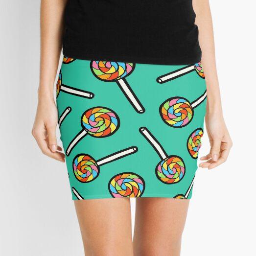 Rainbow Lollipop Pattern Mini Skirt