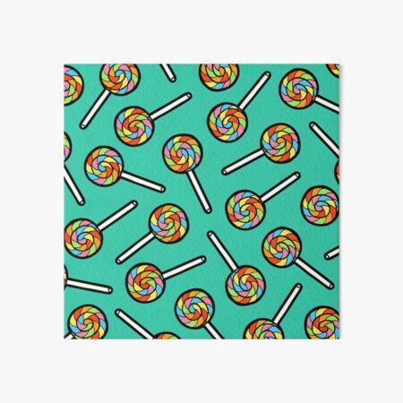 Rainbow Lollipop Pattern Art Board Print