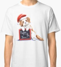 Happy puppy new year Classic T-Shirt