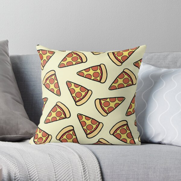 Pepperoni Pizza Pattern Throw Pillow