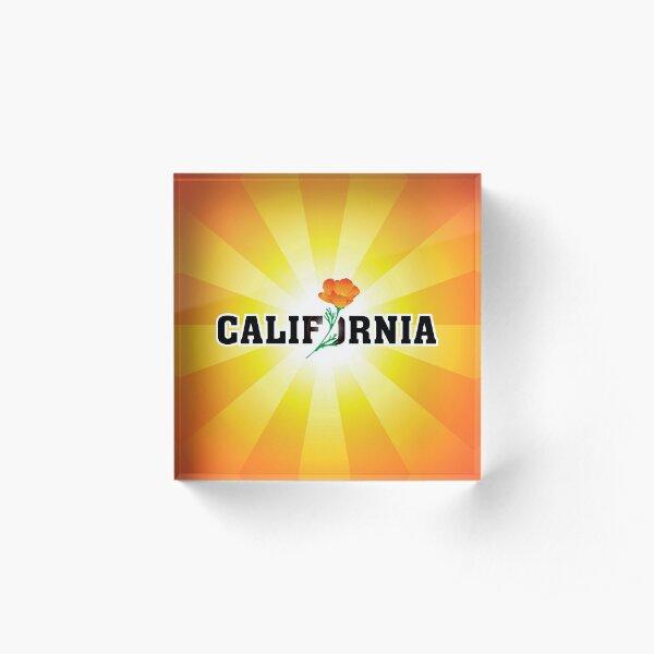 California the Golden State Acrylic Block