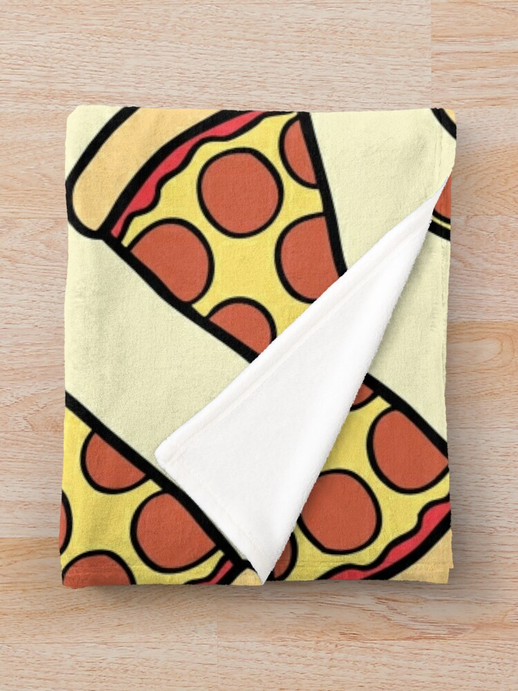 Alternate view of Pepperoni Pizza Pattern Throw Blanket