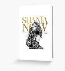 shania now twain tour jenius Greeting Card