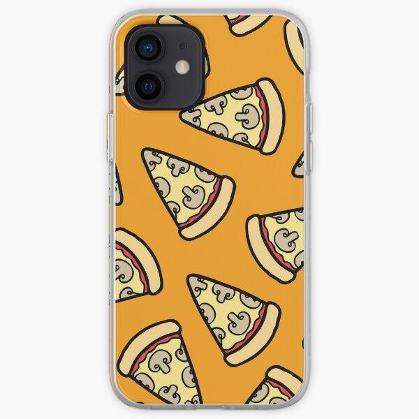 Mushroom Pizza Pattern iPhone Soft Case
