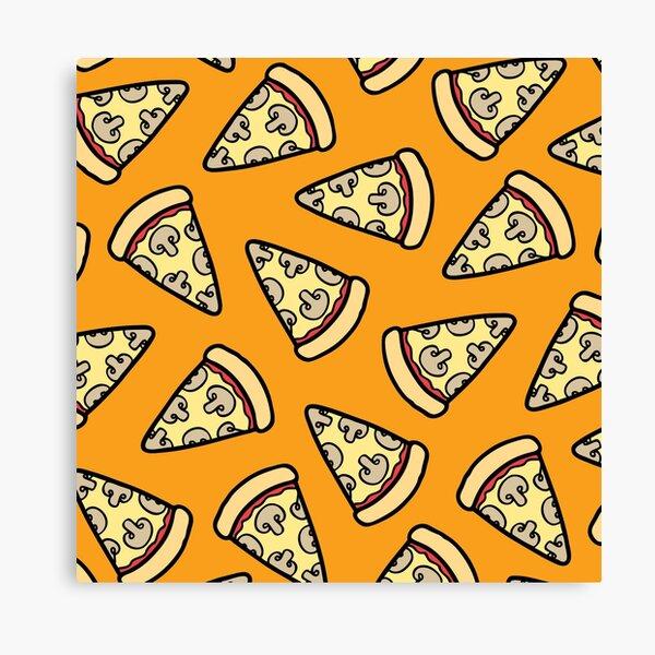 Mushroom Pizza Pattern Canvas Print