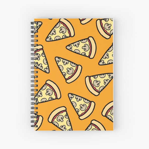 Mushroom Pizza Pattern Spiral Notebook