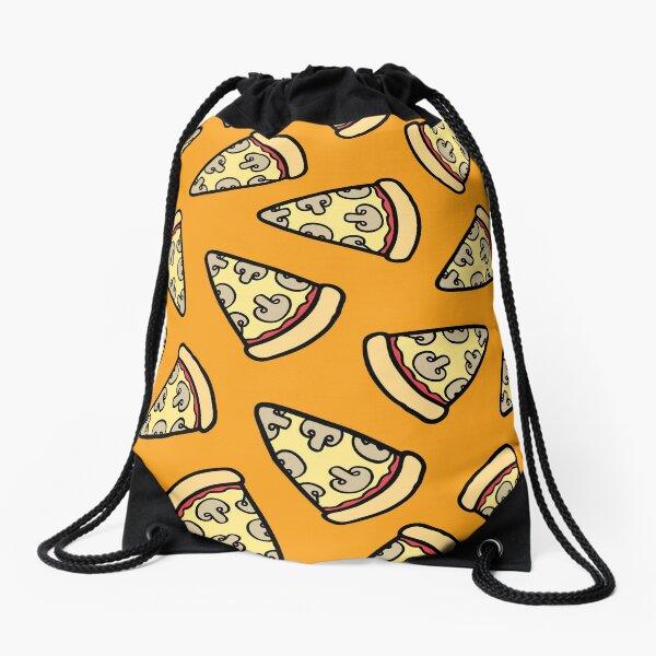 Mushroom Pizza Pattern Drawstring Bag
