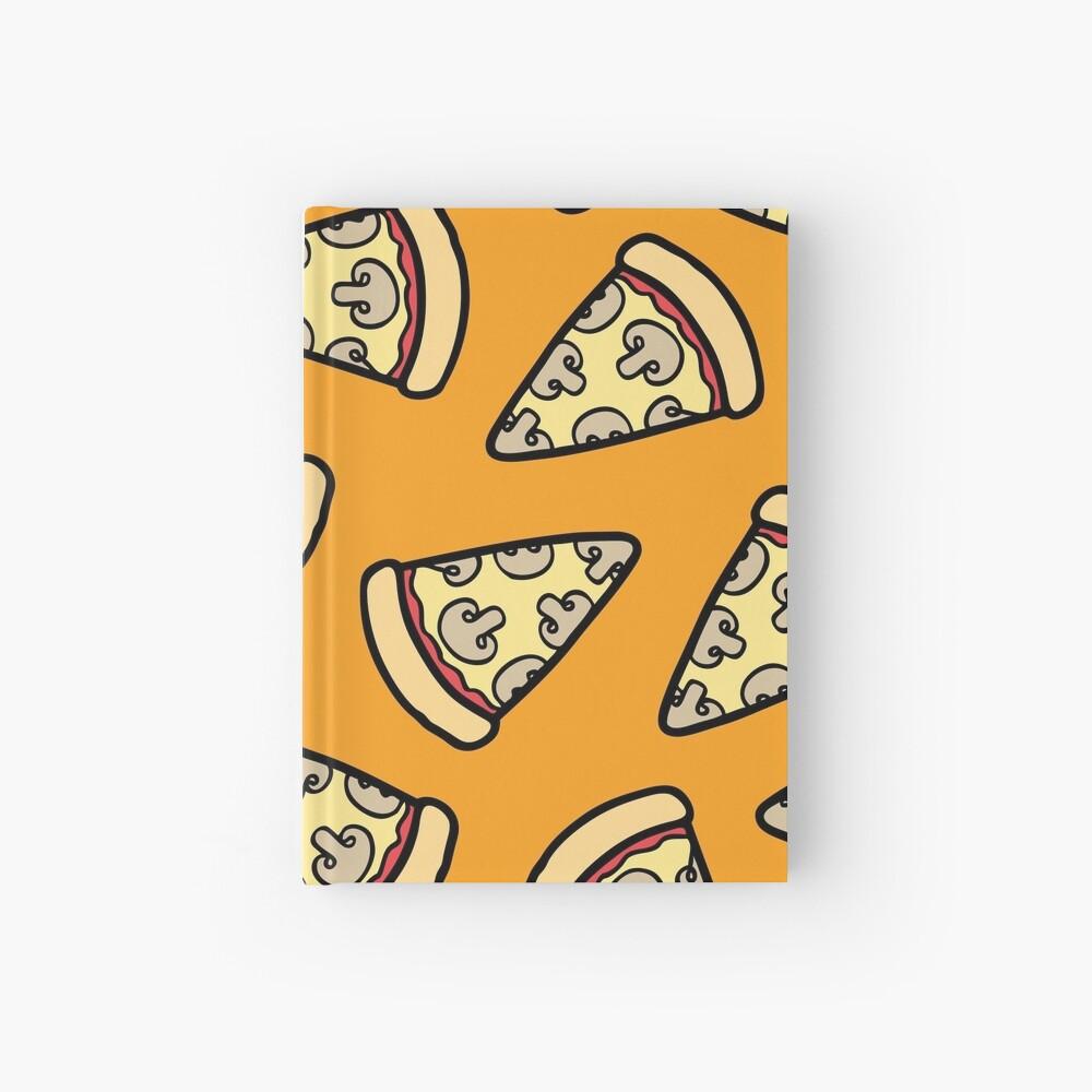 Mushroom Pizza Pattern Hardcover Journal