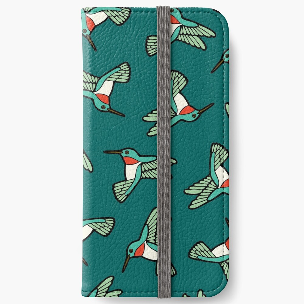 Hummingbird Pattern  iPhone Wallet