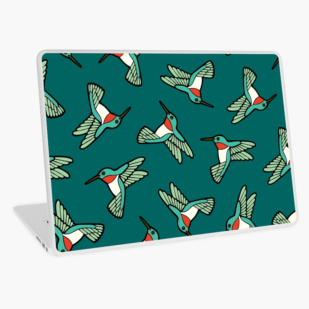 Hummingbird Pattern  Laptop Skin
