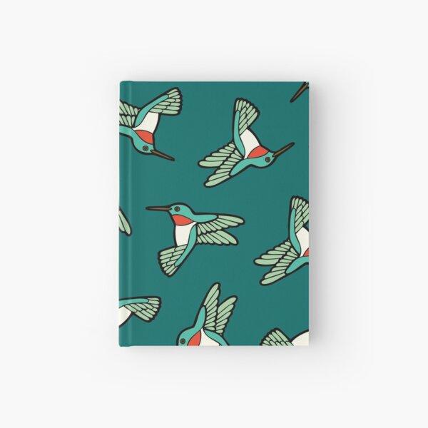 Hummingbird Pattern  Hardcover Journal