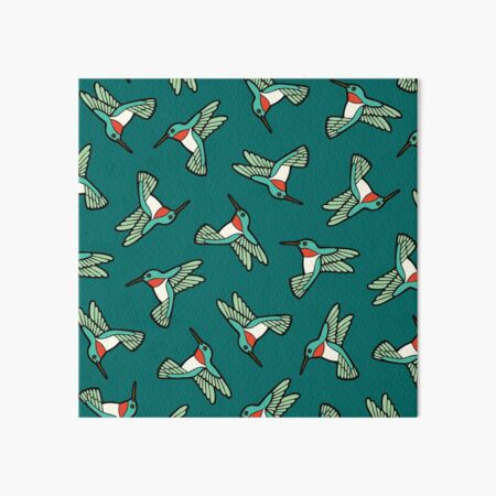 Hummingbird Pattern  Art Board Print