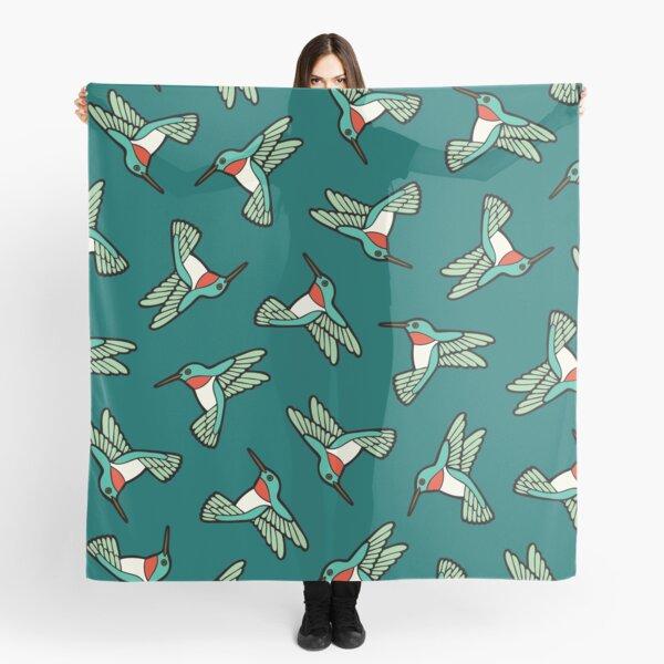 Hummingbird Pattern  Scarf