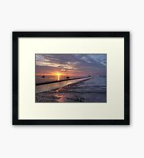 Boats by The Creek Framed Print