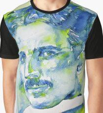 NIKOLA TESLA - watercolor portrait.7 Graphic T-Shirt