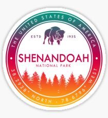 Shenandoah National Park Virginia Emblem VA Souvenirs Sticker