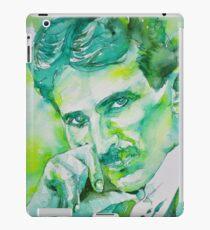 NIKOLA TESLA - watercolor portrait.8 iPad Case/Skin