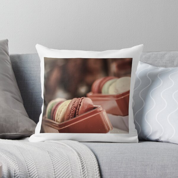 Macaroons Throw Pillow