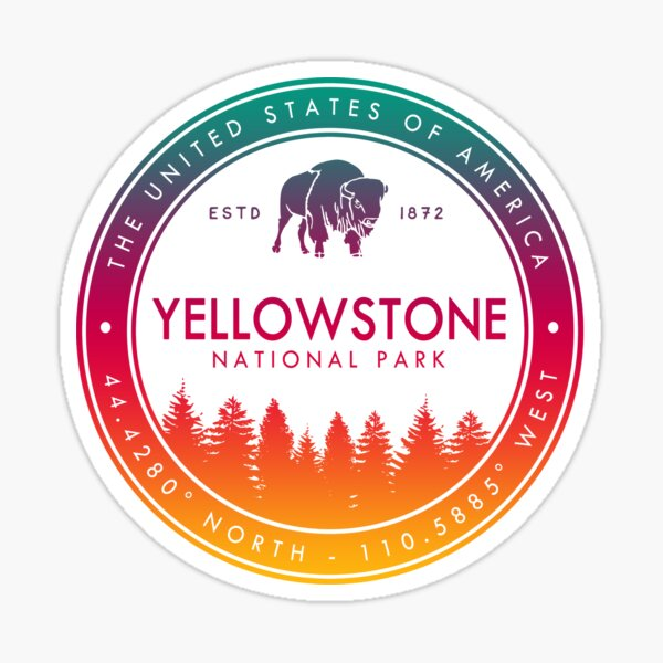 Yellowstone National Park Wyoming Montana Idaho Emblem Souvenirs Sticker