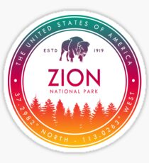 Zion National Park Utah Emblem UT Souvenirs Sticker