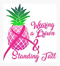 breast cancer ribbon, breast cancer shirts, breast cancer awareness shirts, wear pink for Photographic Print