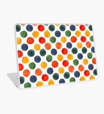 Colorful Watercolor Rounds seamless pattern Laptop Skin