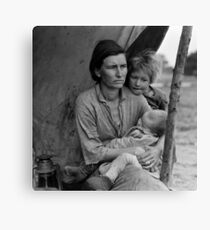 Dorothea Lange, Migrant mother (alternative), Nipomo, California, 1936 Canvas Print