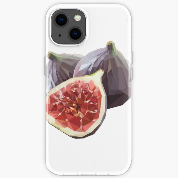 Fig Polygon Style iPhone Soft Case