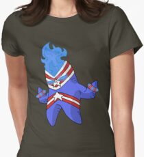 lil' misc superhero... Women's Fitted T-Shirt