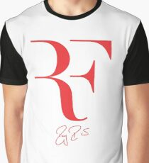 Roger Federer RF - Red Graphic T-Shirt