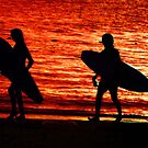 sunset silhouette by lastgasp