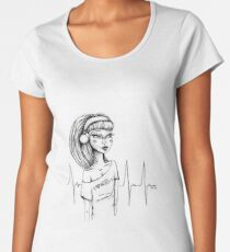 Heart Beat Women's Premium T-Shirt