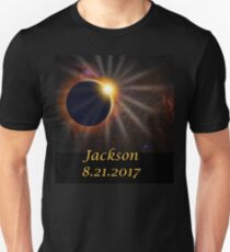 Jackson Hole Wyoming Solar Eclipse  Unisex T-Shirt