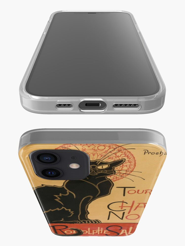 Alternate view of Le Chat Noir The Black Cat Poster by Théophile Steinlen iPhone Case & Cover
