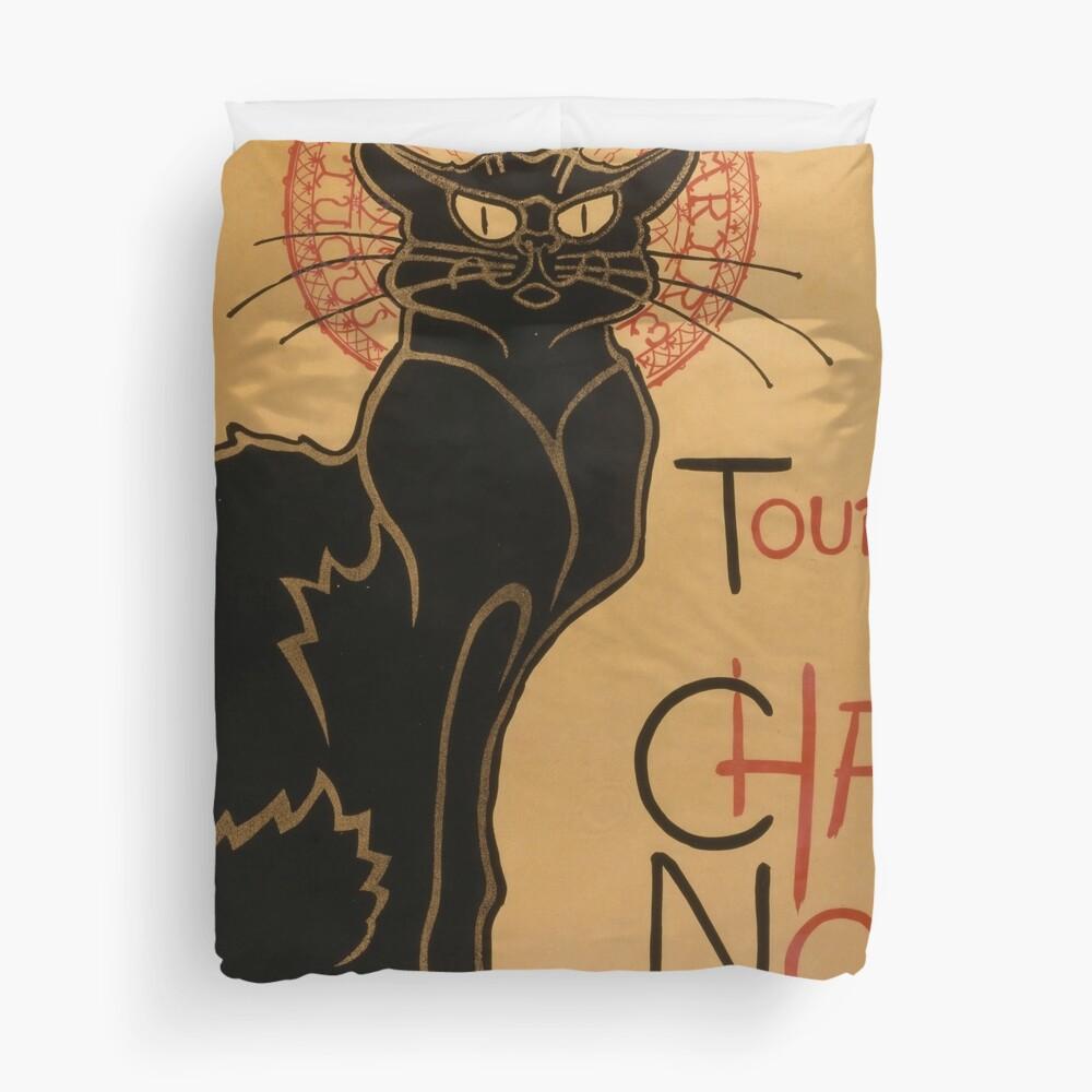 Le Chat Noir The Black Cat Poster by Théophile Steinlen Duvet Cover