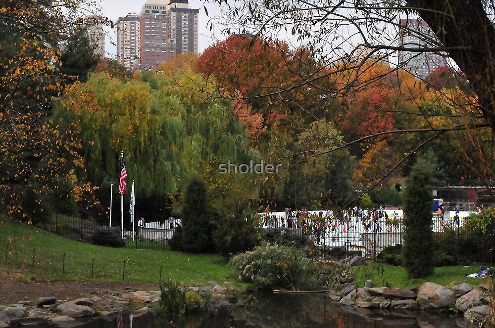 Central Park in Autumn by sholder