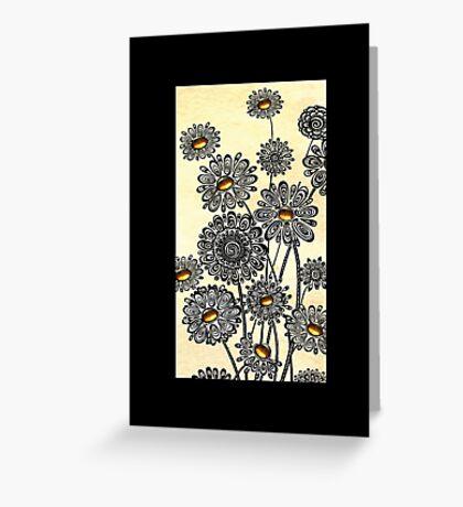 Jeweled Daisies Greeting Card