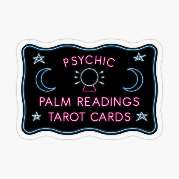Psychic Readings Transparent Sticker