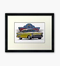 1957 Chevrolet Bel Air Two-Door Hardtop  Framed Print