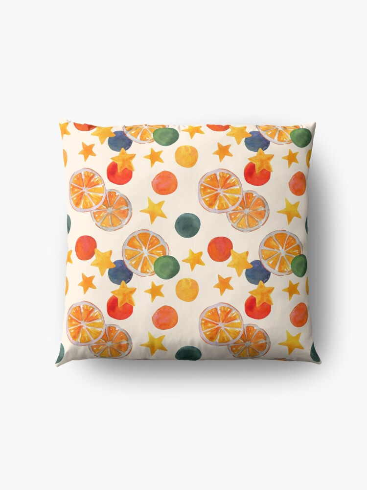 Quot Bright Holiday Pattern With Oranges Stars And Circles