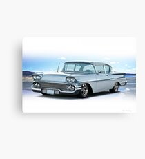 1958 Chevrolet Biscayne Coupe Canvas Print
