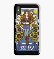 The Girl Who Waited (Amy under a Van Gogh sky) iPhone Case/Skin