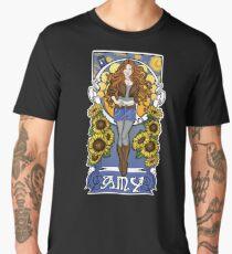 The Girl Who Waited (Amy under a Van Gogh sky) Men's Premium T-Shirt