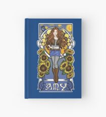 The Girl Who Waited (Amy under a Van Gogh sky) Hardcover Journal