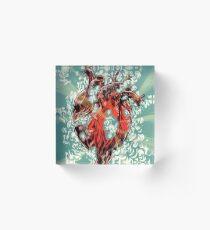 Heart Explosion Acrylic Block