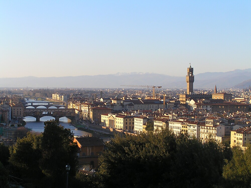 Overlooking Florence, Italy by jillian4840